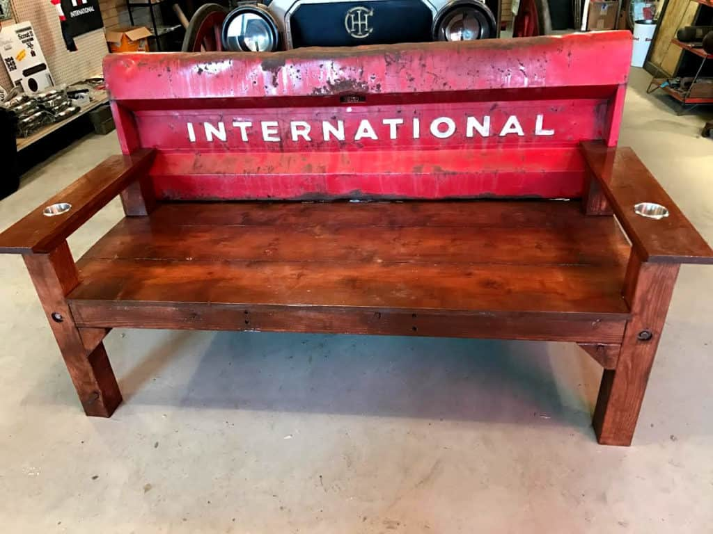 International Truck Rustic Tailgate Bench
