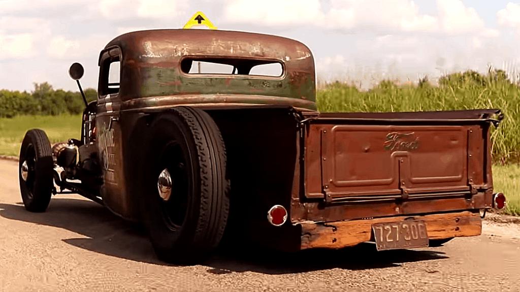 Shep Shepherd's 1935 Ford Rat Rod Rear View