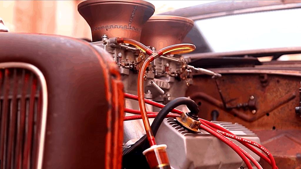 Shep Shepherd's 1935 Ford Rat Rod Engine