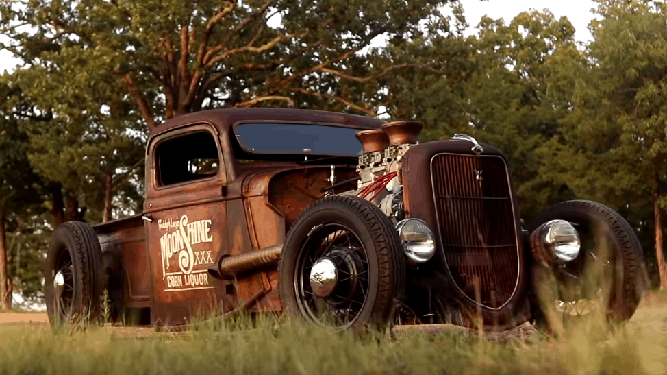 Shep Shepherd's 1935 Ford Rat Rod in the Weeds