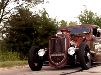 Shep Shepherd's 1935 Ford Rat Rod on the Road