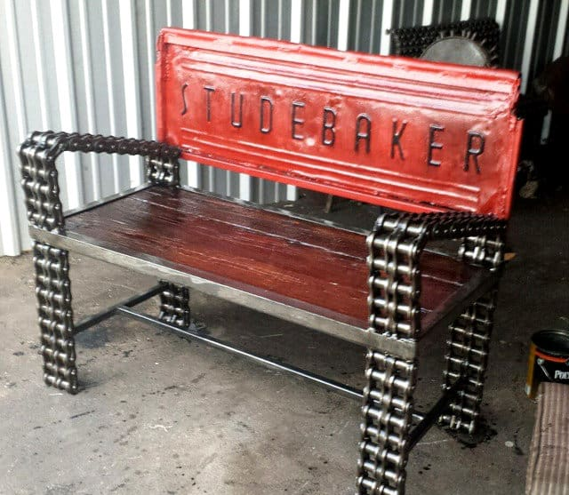 Studebaker Truck Tailgate Bench by RecycledSalvage