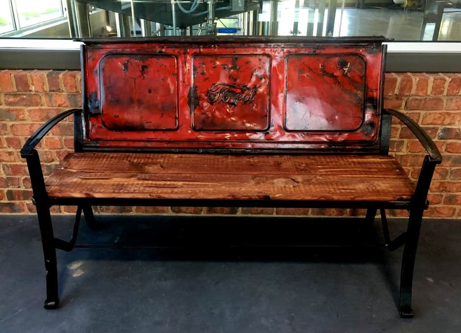 Tailgate Bench by Gerald Metalworks