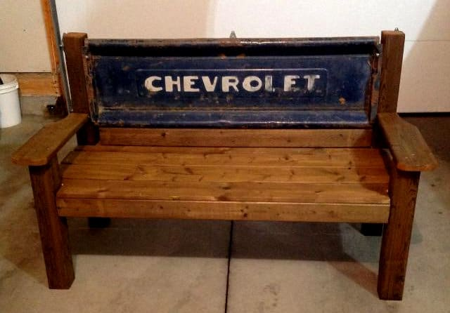 Vintage Chevrolet Tailgate Bench