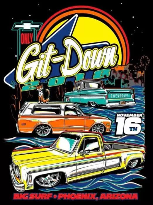 Dino's Git Down 2018 ~ Chevy Only Show Flyer