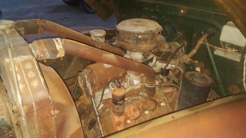 Survivor 1946 Mercury Pickup Engine Bay