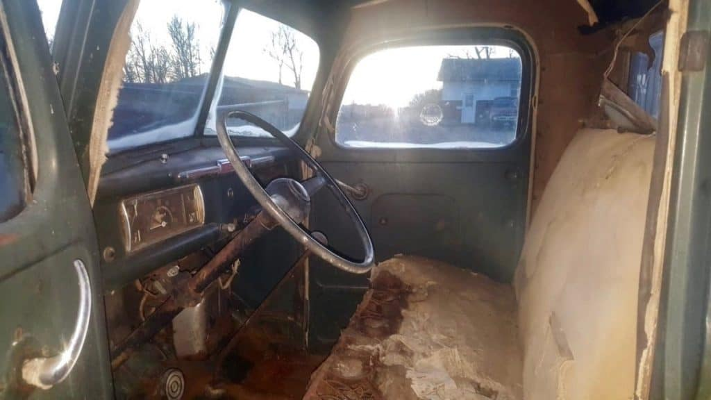 Survivor 1946 Mercury Pickup Interior