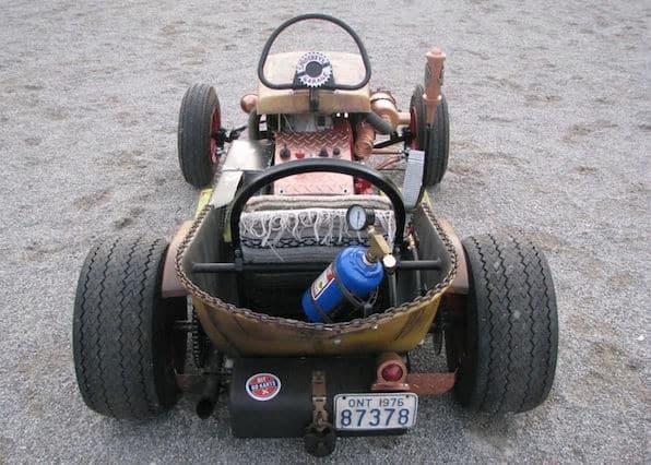 The Diesel Weasel Mow-Cart Rat Rod Lawn Mower