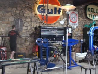 Vintage Service Station Gas Pump Light Restoration Project