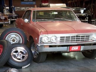 1967 Chevelle ~ Wheel / Tire Swap