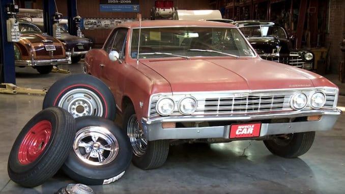 1967 Chevelle ~ Wheel / Tire Swap