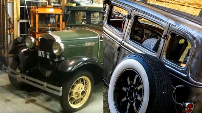 1931 Ford Four Door Cummins Project ~ Before and After