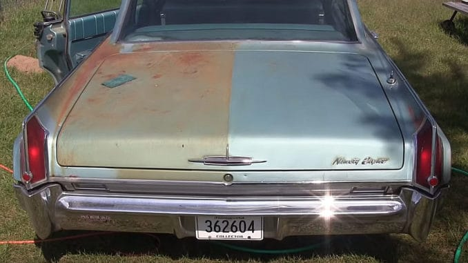 Cleaning off surface rust and polishing a 1963 Oldsmobile 98