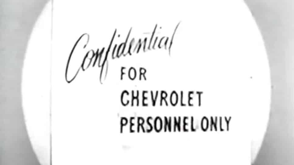 Confidential - For Chevrolet Personnel Only