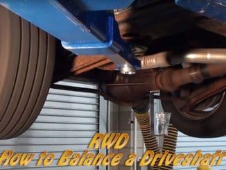 How To Balance a Driveshaft