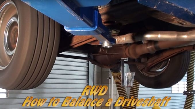How To Balance a Driveshaft
