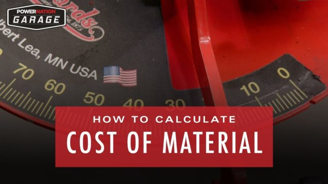 How To Calculate Cost Of Materials for a Tube Bending Project