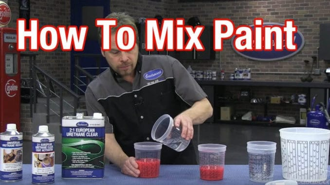 How To Mix Automotive Paint ~ Understanding Paint Mixing Ratios