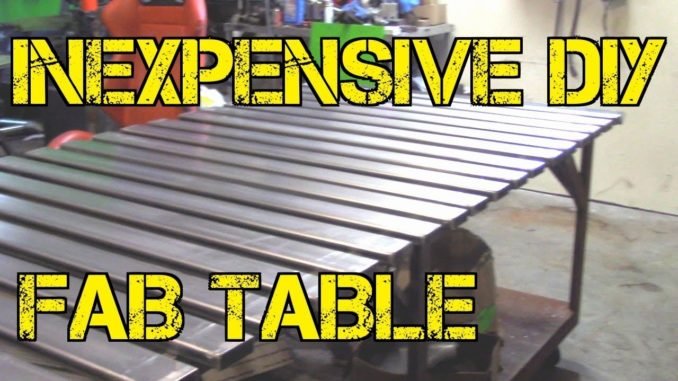 Inexpensive DIY Fab Table