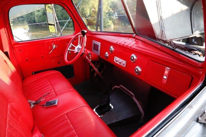 Rustic Nail & Co.'s 1948 Dodge Shop Truck ~ Interior