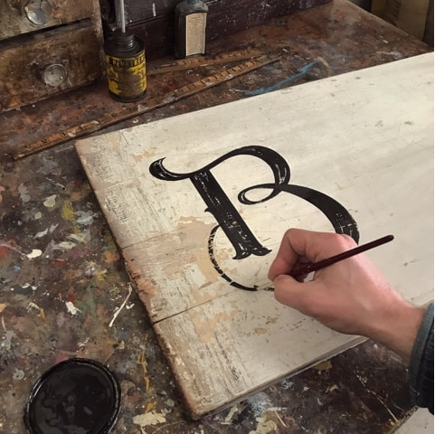 The Lost Art ~ Master Sign Painter TJ Guzzardi