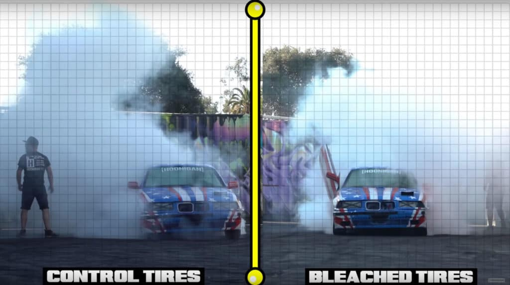 Tire Science ~ Does Bleach Make Bigger Burnouts
