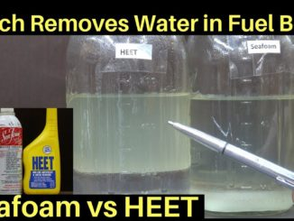 Water Contaminated Fuel ~ Seafoam, HEET, or Isopropyl Alcohol