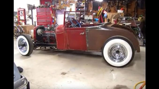 1928 Ford Model A Roadster Pickup to Roadster Coupe Build
