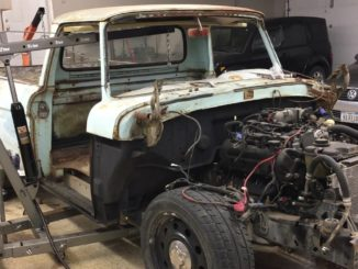 1961 Ford F100 ~ P71 Crown Victoria Police Interceptor Chassis Swap