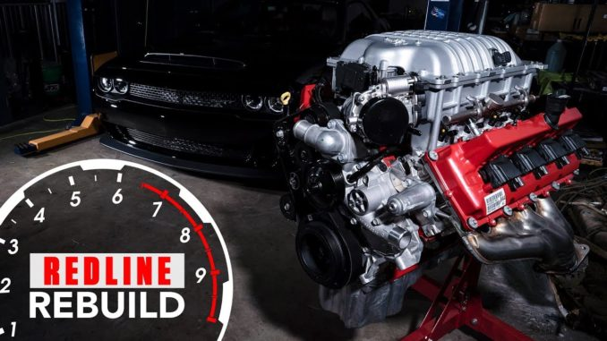Dodge Demon HEMI V-8 Engine Build Time-Lapse