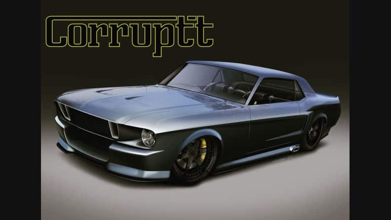 Ferrari Twin Turbo Powered 1968 Ford Mustang