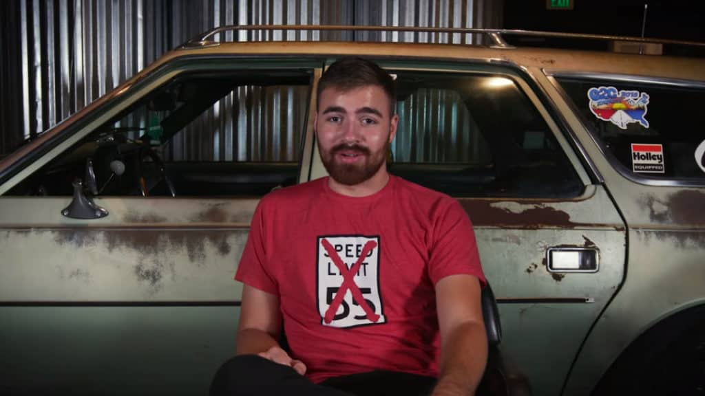 Jacob Davis attempts to set a cannonball record in his 1972 AMC Hornet Sportabout