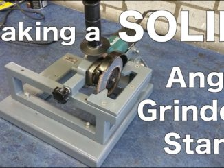 Making a SOLID Angle Grinder Stand