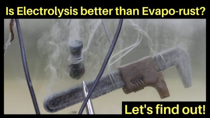 Rust Removal Electrolysis vs Evapo-Rust