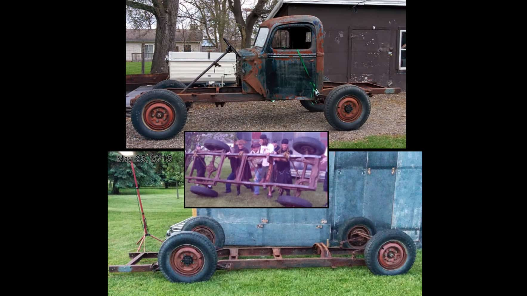 Upside Down 1946 Ford 1 Ton Rat Rod Truck Gets Instant Chassis Slam