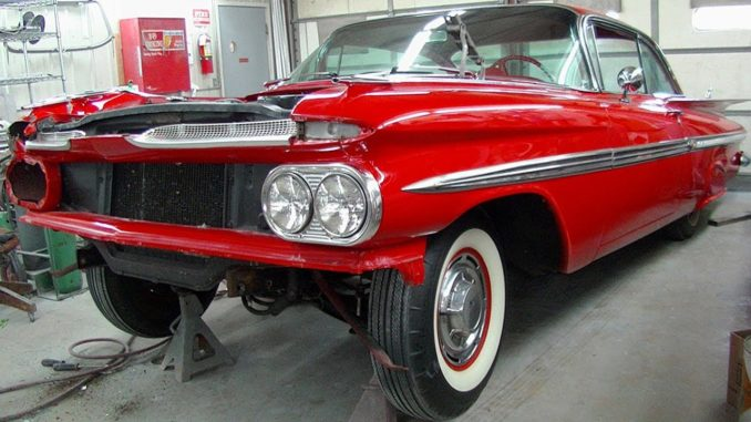 1959 Chevrolet Impala Coupe Collision Repair