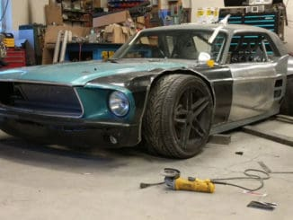 Extreme Widebody 1967 Ford Mustang Meets C5 Corvette Build