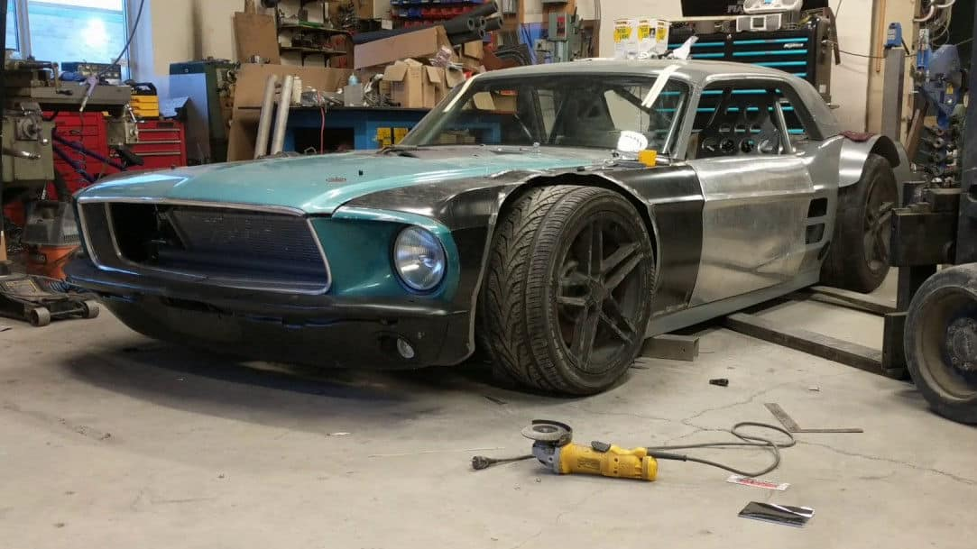 Build A Mustang >> Extreme Widebody 1967 Ford Mustang Meets C5 Corvette Build