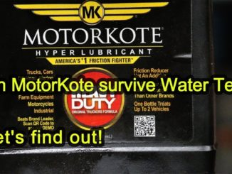 Can MotorKote Survive the Water Test