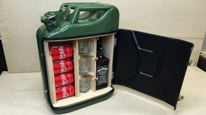 How To Make a Mini Bar from a Jerry Can