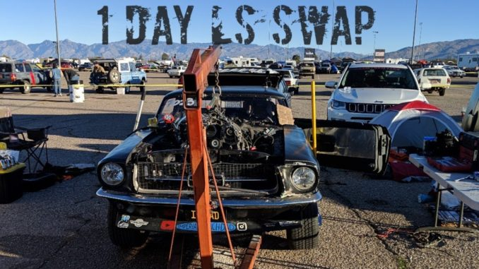 Insane 1 Day 1967 Mustang LS Swap at Roadkill Zip Tie Drags