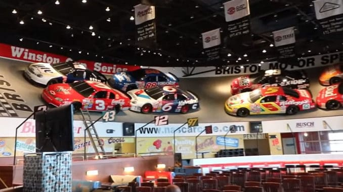 Take a Walk Around an Abandoned NASCAR Cafe