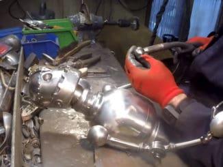 DIY Robot from Scrap Metal ~ Time Lapse