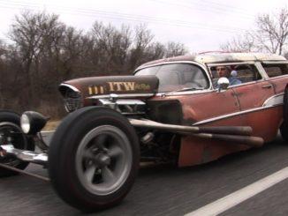 Rick Newberry's Insane 1957 Chevy Nomad Wagon Rat Rod