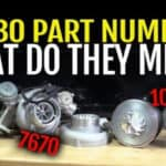 What do turbo part numbers mean?