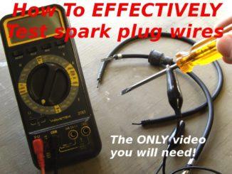 Multi-meter and Spark Plug Wires