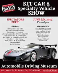 KIT CAR and Specialty Vehicle Show @ Automobile Driving Museum | El Segundo | California | United States