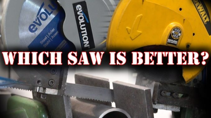 Metal Cutting Saws ~ Dry Cut vs Abrasive vs Band Saw