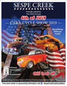 33rd Annual Sespe Creek Car and Cycle Show & Chili Cookoff @ City of Fillmore | Fillmore | California | United States