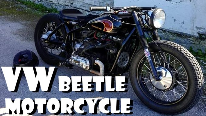 1300cc VW Beetle Engine Swapped Motorcycle